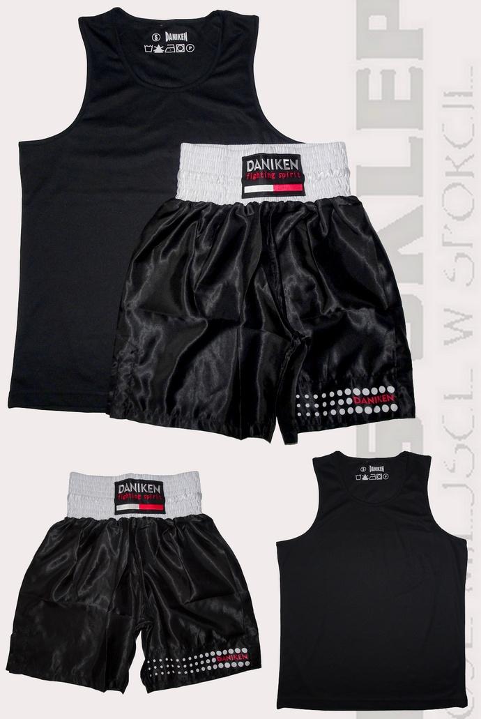 Komplet bokserski Daniken koszulka Master, spodenki Classic kolor czarny